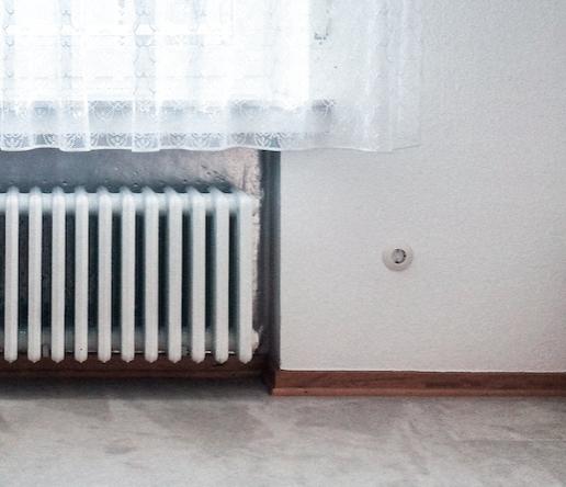 chauffage central en hiver