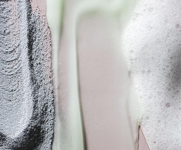 coup de texture de nettoyants pour le visage