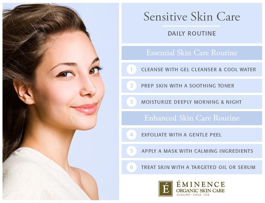 routine de soins de la peau sensible