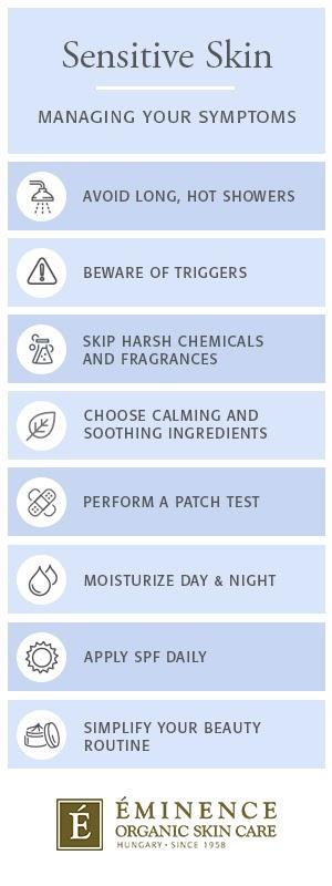 comment gérer les symptômes de la peau sensible