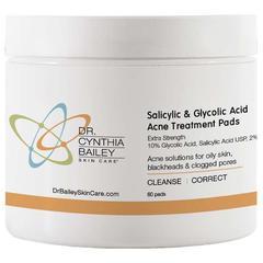 best salicylic acid and glycolic acid acne treatment pads