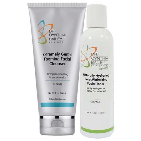 Nettoyant et tonique de routine de soins de la peau de nuit dermatologue