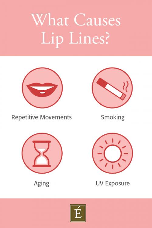 ce qui cause l'infographie des rides des lèvres